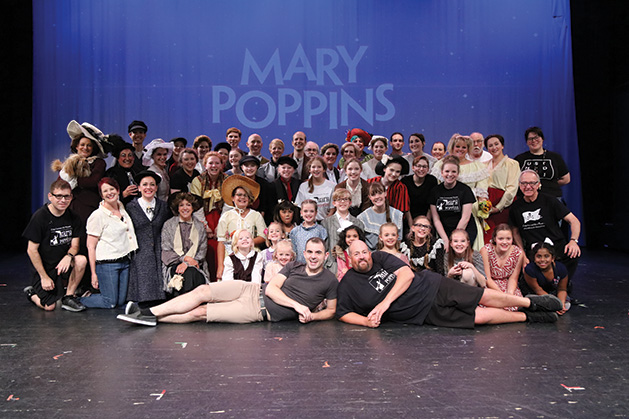 The full cast and crew of Cross Community Players' Mary Poppins