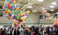 Residents celebrate New Year's Eve at the Maple Grove Community Center