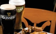 Shamrock wings coated in Claddagh's signature shamrock sauce pair well with trivia night trifling.