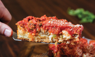 Rosati's deep dish Chicago style pizza