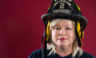 Maple Grove Fire Department retiree Beth Thibodeau