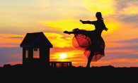 Kristin Jones captures first place in photo contest with image of dancer at sunset