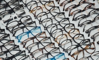 A variety of different eyeglasses.
