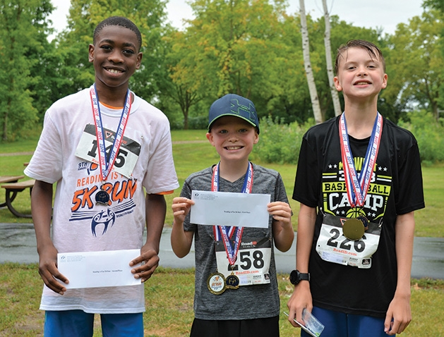 Congratulations to the Reading is Fun 5K top three winners.