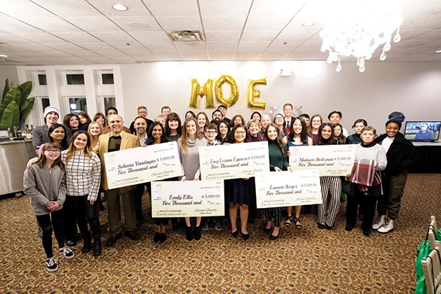 Friends and supporters of Moe123 join the 2020 scholars to celebrate.