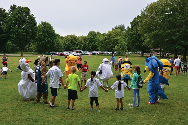All sorts of characters have some prerun fun at the Reading is Fun 5K.