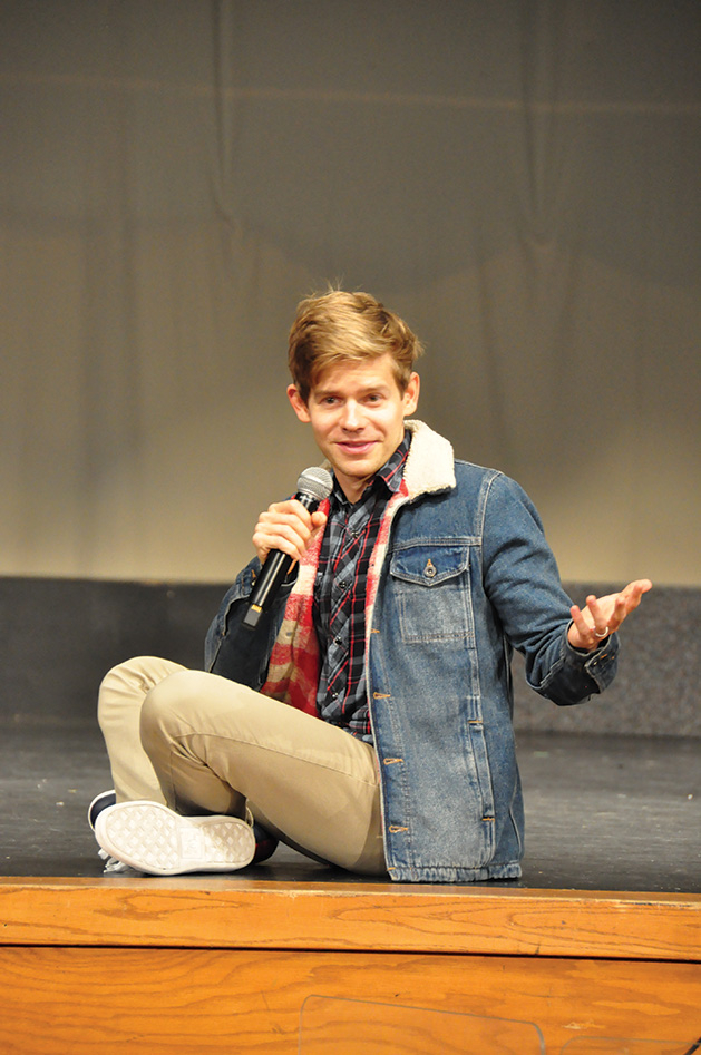 Andrew Keenan-Bolger of Broadway's Tuck Everlasting visits Maple Grove Senior High