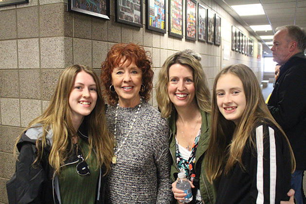 Ava Danberg, Paulette Zastawny, Tiffany Danberg and Ellie Danberg at the Maple Grove Senior High SongBlast fundraiser.