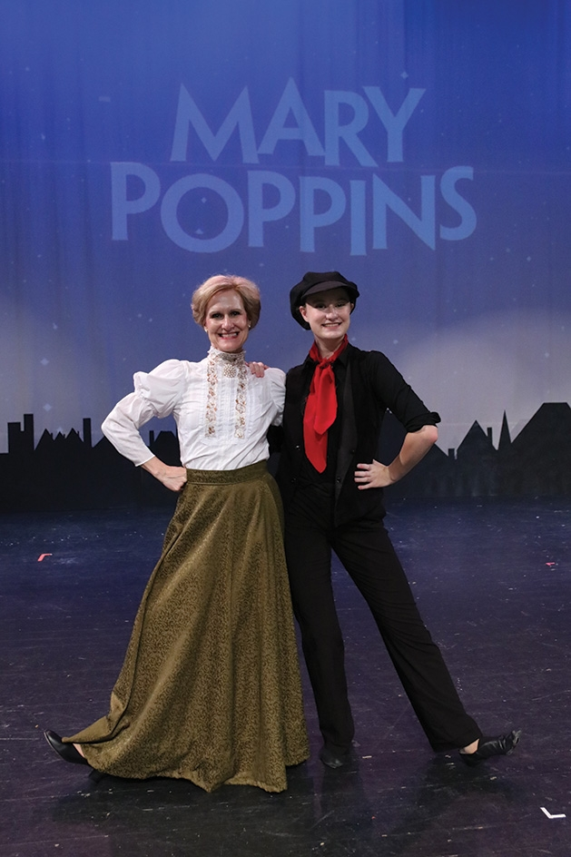 7 Kelly Hotzler and Kayla Hotzler onstage at Cross Community Players' Mary Poppins