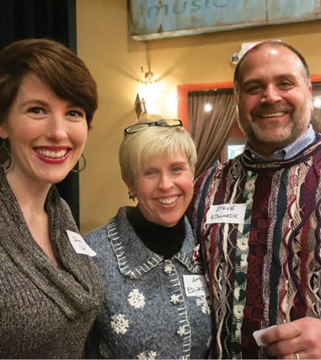 Jenny Yoon, Amy Edwards, and Steve Edwards