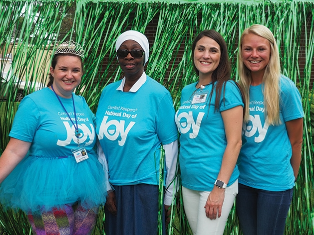 Anna Kiffmeyer, Judy Williams, Liz Lovelace and Charest Sederstrom at the Comfort Keepers National Day of Joy 2019