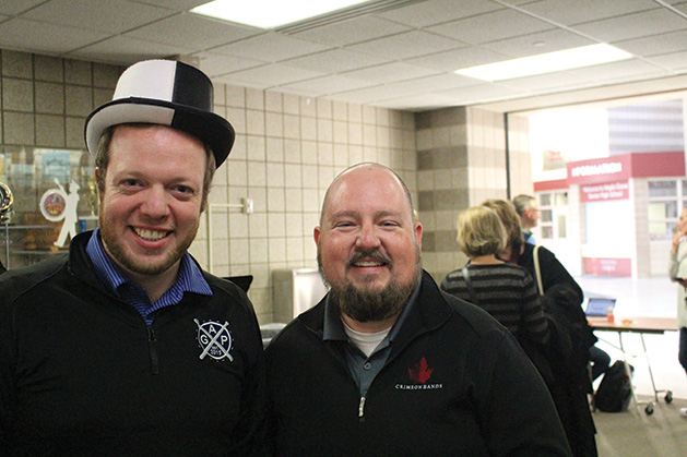 Peter Buhler and Paul Terry at the Maple Grove Senior High SongBlast fundraiser.