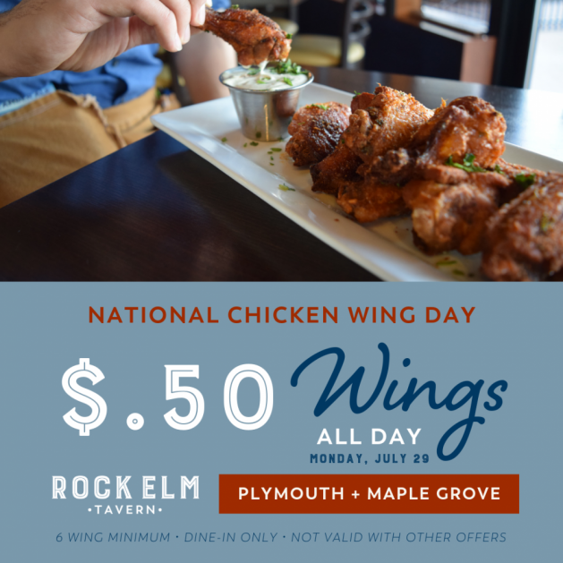 50 Wings for National Chicken Wing Day   Maple Grove