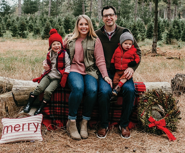 Microblogger Nicole Pierson and her family.