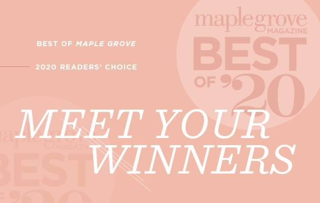 A graphic announcing the Maple Grove Magazine Best of Maple Grove 2020.