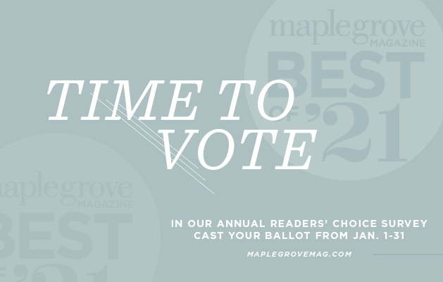A graphic announcing the Best of Maple Grove 2021 contest.