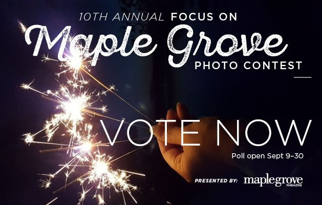 A graphic announcing voting for the 2020 Focus on Maple Grove photo contest.