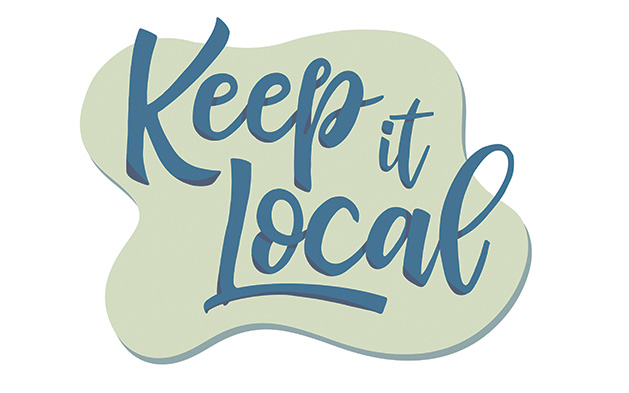 """An illustration reads """"Keep it Local"""""""