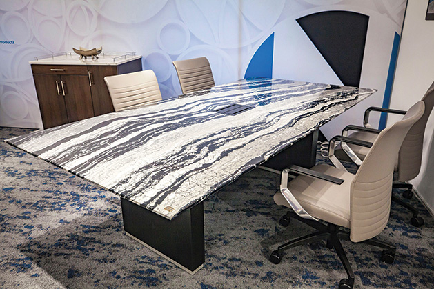 A custom conference table.