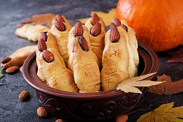 "Severed finger cookies, a Halloween party food much like the ones found in ""The Gross Cookbook"""