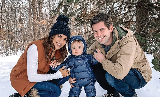 Taylor Brown, founder of The Styled Press, with her family.