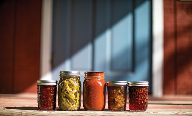 homegrown canned produce