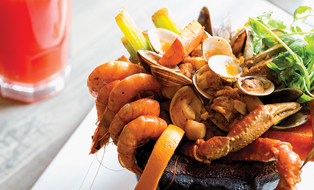 Molcajete marinero, a Mexican seafood dish from Fiesta Cancun in Maple Grove.