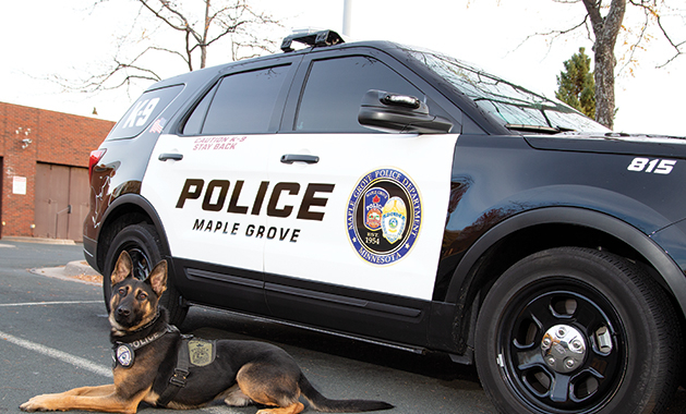 police department welcomes canine cope dog
