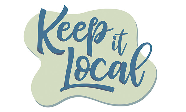 "An illustration reads ""Keep it Local"""