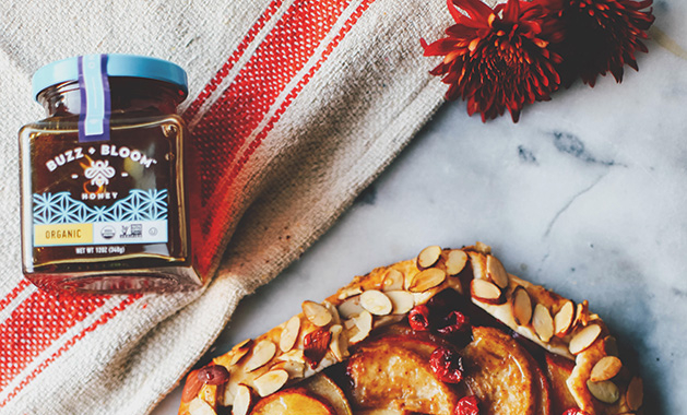 Pear Cranberry Spiced Galette