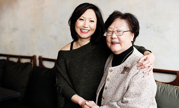 James Beard Award-winning chef Ann Kim of Young Joni embraces her mother.