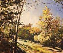 A painting by Dan McAvey, adult education director at the Maple Grove Arts Center.
