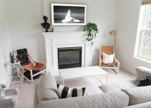 A renovated living room in a Maple Grove home.