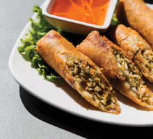 Egg rolls from Lotus Restaurant in Maple Grove.