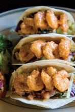 Shrimp tacos from Malone's Bar & Grill