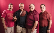 The four dads who make up the Maple Grove Senior High Chain Gang