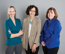 The founder and members of the Rediscover U divorce support group for women