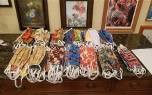 Masks from the Rotary Club of Maple Grove for Minnesota health care workers.