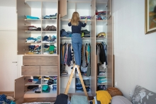 Organize your closets by eliminating clutter.