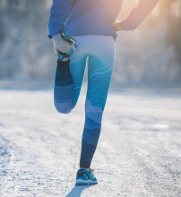 Running in the Snow, Outdoors, Winter