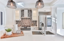 A clean kitchen with clutter-free countertops.