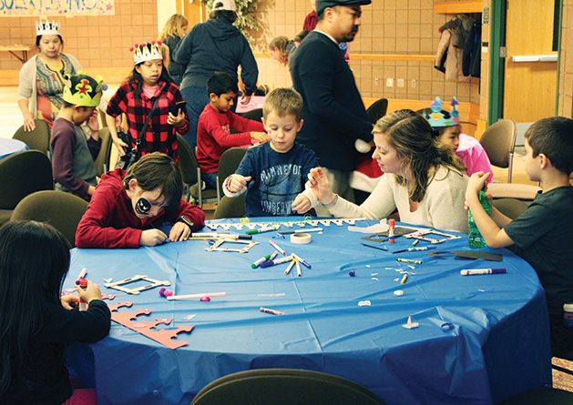 Kids and parents celebrate New Year's Eve at the Maple Grove Arts Center